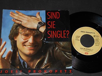 "Vinyl Single 7"" JOESI PROKOPETZ Sind Sie Single aus 1986"