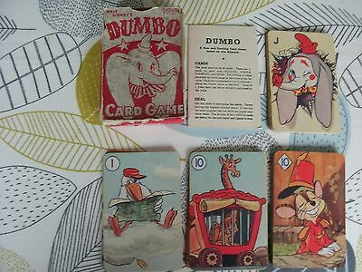 """vintage 1941 pepys disney """" dumbo """" card game boxed and complete super images"""