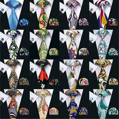 USA New Floral Pint Mens Tie Set Green Pink Blue Silk Necktie Jacquard Set Woven