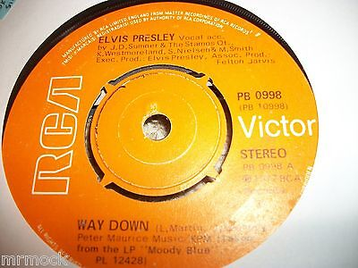"ELVIS PRESLEY- WAY DOWN VINYL 7"" 45RPM p"