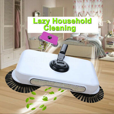Household Spin Hand Rotating Push Broom Sweeper Floor  Cleaning No Electricty