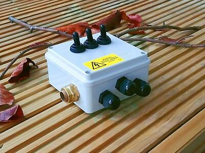 3 way Toggle Switch for Ponds/ Outdoor WITH an Armoured Cable Inlet  - IP56
