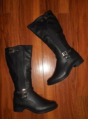 Womens Ladies Stunning New Buckle Comfy Flat Black Chelsea Boots: Uk Size 4 (37)