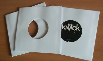 """400 of 7"""" vinyl record white paper sleeves 90 gsm fits in card sleeves"""