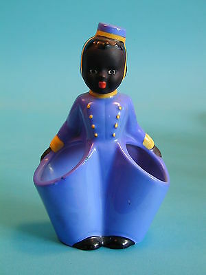 1960's Goebel Black Bell Hop Posy Holder
