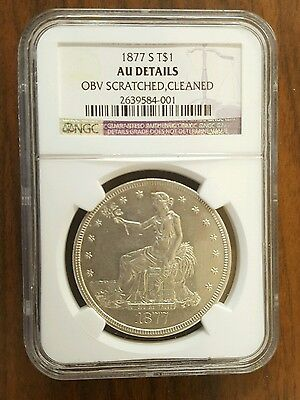 1877-S Trade Silver Dollar T$1 - Certified NGC AU Details