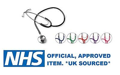 Ruby Nhs Quality Dual Head Stethoscope For Emt Medical Doctor *uk Sourced* New