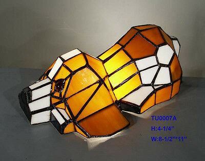 Tiffany Leadlight Stained Glass Puppy Dog Accent Table Lamp Night Light