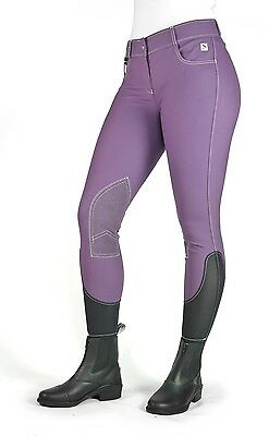 John Whitaker Ladies Ivy Breeches PURPLE in sizes UK 26-28 + Worldwide Shipping