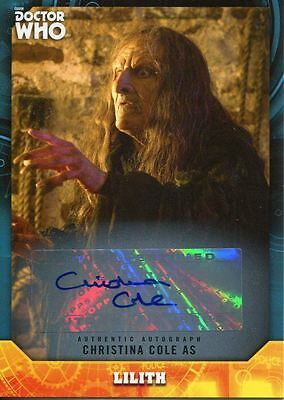 Doctor Who Signature Series Autograph Card Christina Cole As Lilith
