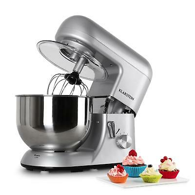 New Kitchen 5.2L Food Processor Mixer Dough Blender 6 Speed 1200W New Silver