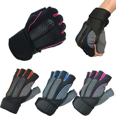 Fitness Gloves Lifting Gym Training Workout Training Half Finger Strap Size L 01