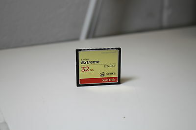 SanDisk 32GB 120MB Extreme compact flash CF card for camera