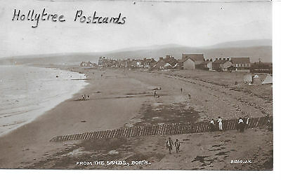 1923 Borth village from the sands Cardiganshire  RP