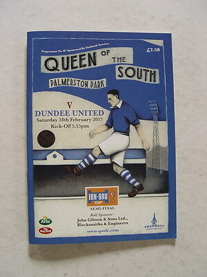 Queen of the South v Dundee United 2017 Irn-Bru Cup semi final