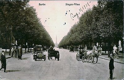 BERLIN, GERMANY, Sieges Allee, Horse Drawn Carriage, 1912 Postcard GER345205