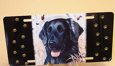 Flat Coated Retriever License Plate  Full Size Aluminum