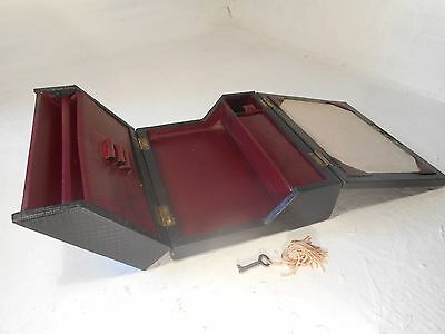 Antique Travelling  Writing Slope Box ,   ref 2973