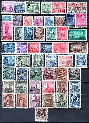 East-Germany/DDR/GDR: All stamps of 1955 in a year set complete, MNH