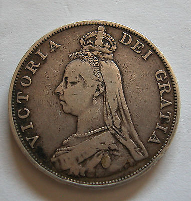 Great Britain-Queen Victoria-Silver Jubilee Double Florin 1889-Km # 763