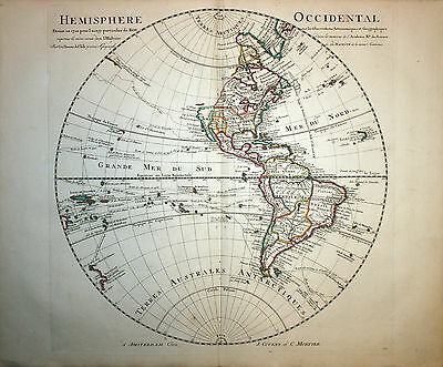 Western Hemisphere - North & South America  - Covens Mortier 1742