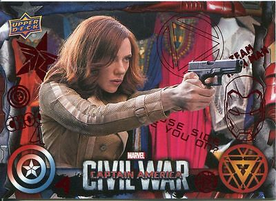 Captain America Civil War Red Foil Parallel Base Card #10 [***/100]