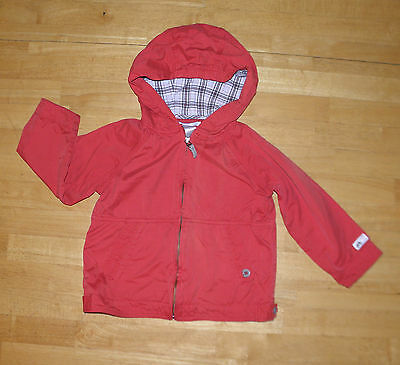 Janie & Jack Classic Red Bicycle Windbreaker Hooded Jacket Boys 2T 3T