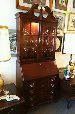 Fine JASPER Cherry Secretary Desk Bookcase Cupboard Buffet China Cabinet Table