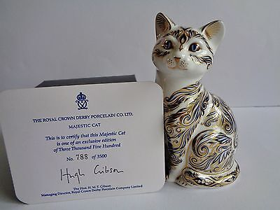 "ROYAL CROWN DERBY ""majestic cat"" limited edition PAPERWEIGHT"