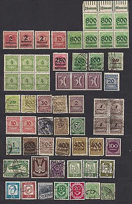 Germany lot of 110 stamps