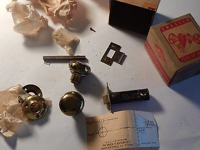 Vintage NOS Chesler door knob passage brass original box