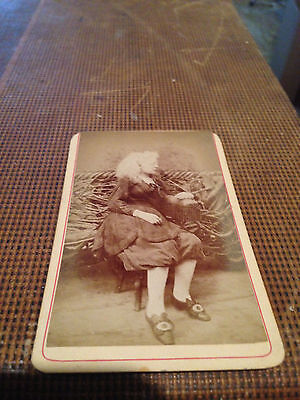 Millie Lamar Albino mind reader 1880's Circus performer CDV, side show, freak #2
