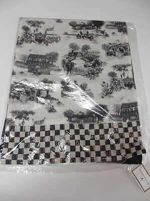 MacKenzie Childs Table Runner Black Toile Courtly Check