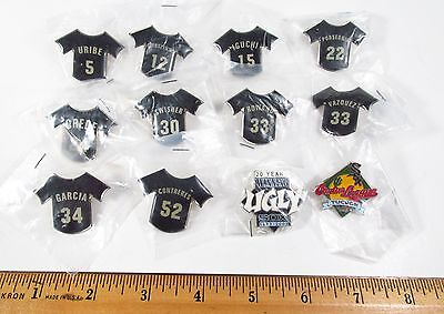 Vintage 2000s NOS Lot of 12 Chicago White Sox MLB Promo Giveaway Lapel Hat Pins