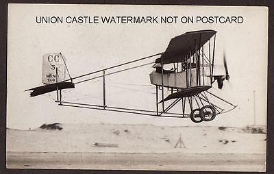 Real Photo Postcard Size Caudron Biplane Crotoy France Aircraft Airplane