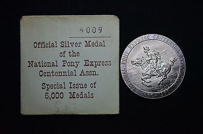 1960 Pony Express Centennial Silver So Called Dollar, Hk-582, Gem With Envelope