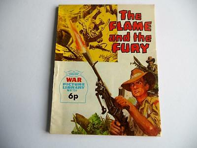 War Picture Library # 756 ' THE FLAME AND THE FURY'  IPC Magazines 1972