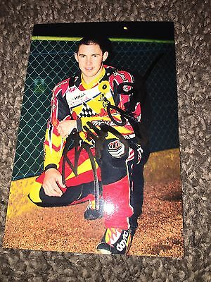 Hand Signed Billy Janniro Coventry Bees Speedway Photo