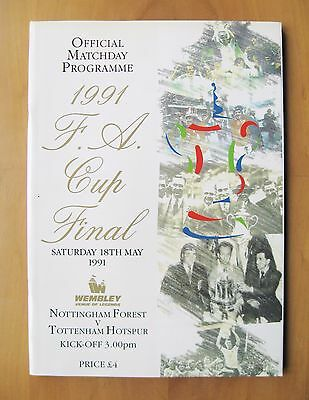 1991 FA Cup Final NOTTINGHAM FOREST v TOTTENHAM HOTSPUR + Poster *Exc Condition*