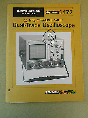 BK PRECISION 15 MHz TRIGGERED SWEEP DUAL-TRACE OSCILLOSCOPES  INSTRUCTION MANUAL