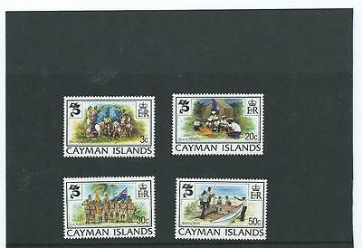 1982 Cayman Islands Year of The Scout 4V MNH