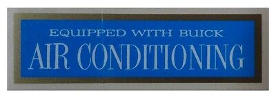 """1953 1954 1955 1956 1957 1958 1959 1960 Buick """"Air Conditioned"""" Window Decal"""