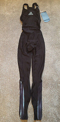 Black Blue Adidas Equipment Full Body Swimsuit Spandex Lycra Catsuit M 8 32""