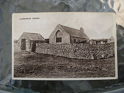 Postcard. Llandanwg Church, Wales. Unused. Sepia. e3