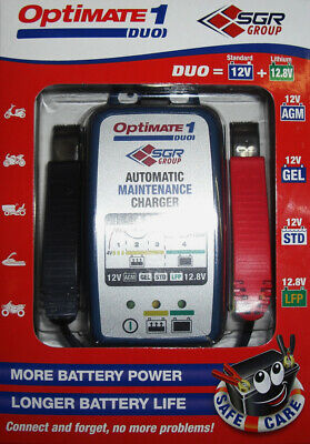 Ladegerät OptiMate1 DUO 12V Blei-Säure + Lithium-Batterien LiFePO4 TM-406