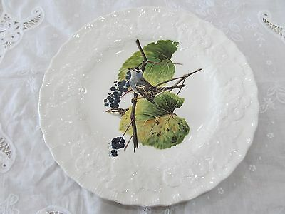 "Alfred Meakin Birds of America Plate White Crowned Sparrow 8 3/4"" Round"