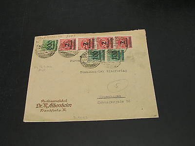Germany 1923 cover to Denmark stamp fault *7623