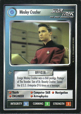 Star Trek Ccg Bb Black Border Premiere Rare Card Wesley Crusher