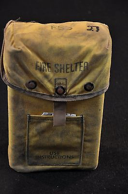 USFS Forestry Service FIRE SHELTER w/ Yellow ALICE Carrier Case FSS unused #27