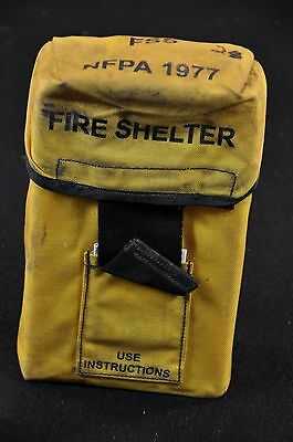 USFS Forestry Service FIRE SHELTER w/ Yellow ALICE Carrier Case FSS unused #28